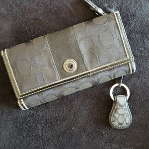 Coach wallet and keychain
